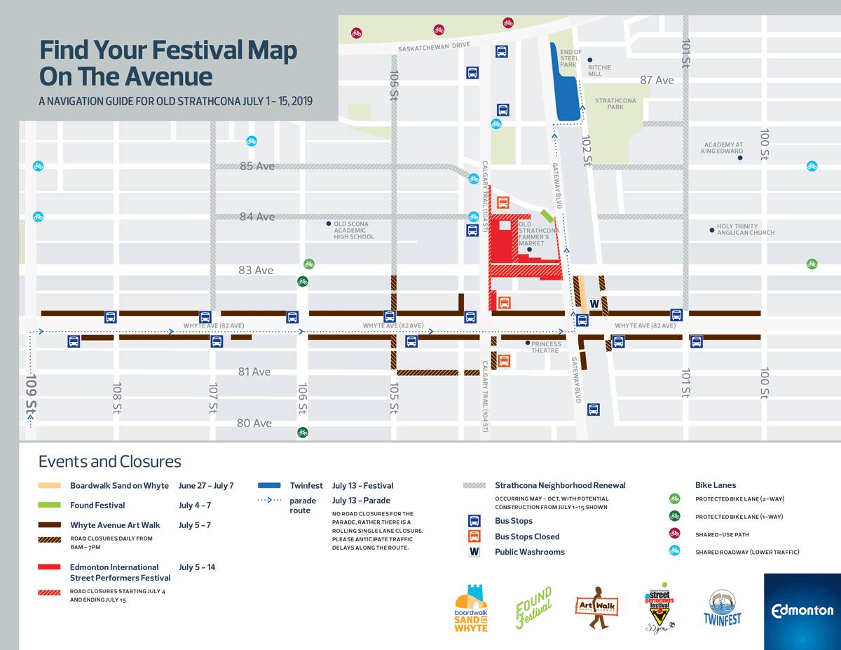 Edmonton Festival Map