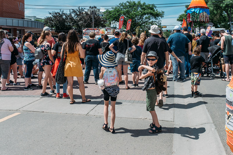 Family at Edmonton StreetFest